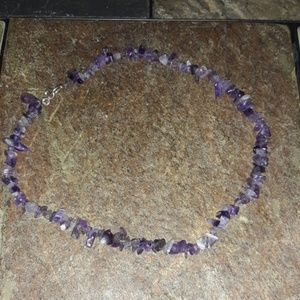 .925 and amethyst necklace